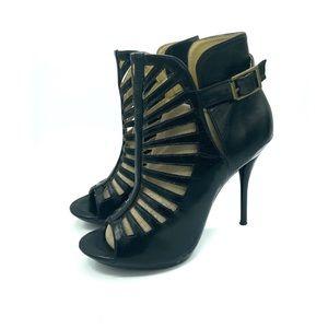 Promise black bootie heels sz 7